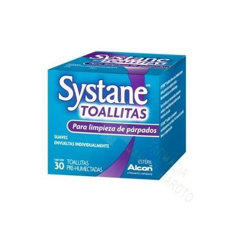 SYSTANE TOALLITAS HUMEDAS ESTERILES LIMPIEZA PARPEBRAL 30 TO