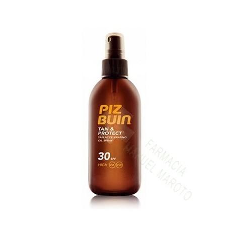 PIZ BUIN SPF 30 TAN&PROTECT ACEITE EN SPRAY 150 ML