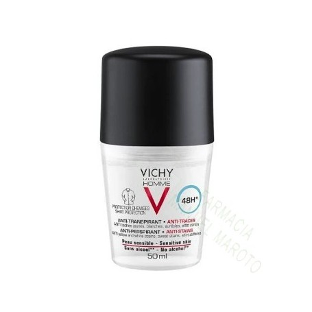 VICHY HOMME DESODORANTE ANTIMANCHAS HOMBRE ROLL ON