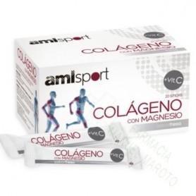 AMLSPORT COLAGENO MAGNESIO FRESA 20 STICK
