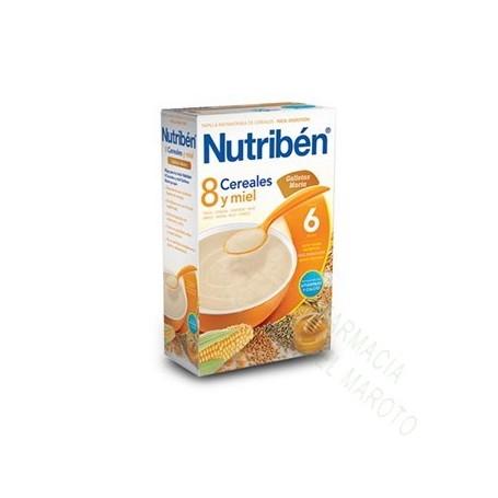 NUTRIBEN PAPILLA 8 CEREALES MIEL Y GALLETAS 600G