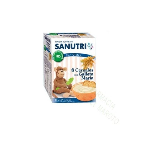 SANUTRI 8 CEREALES GALLETA MARIA 600G