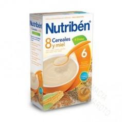NUTRIBEN PAPILLA 8 CEREALES MIEL Y FRUTAS 600G