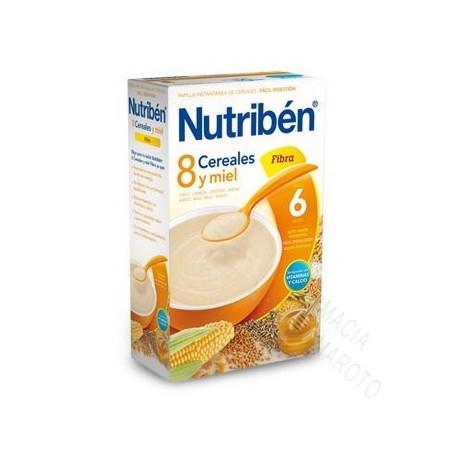 NUTRIBEN PAPILLA 8 CEREALES MIEL Y FIBRA 600 G