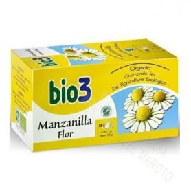 BIO3 MANZANILLA ECOLOGICA FLOR 1.5 G 25 FILTROS