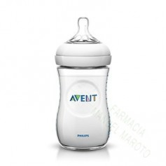 AVENT BIBERON NATURAL TRANSPARENTE 260 ML +1M