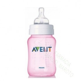 AVENT BIBERON NATURAL ROSA 260ML +1M