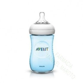 AVENT BIBERON NATURAL AZUL 260 ML +1M