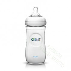AVENT BIBERON NATURAL TRANSPARENTE 330 ML +3M