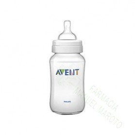 AVENT BIBERON CLASSIC TRANSPARENTE 330 ML +3M FLUJO VARIABLE