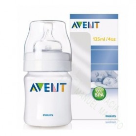AVENT BIBERON NATURAL TRANSPARENTE 125 ML +0M